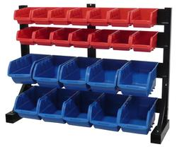 Tool Shop 24-Bin Bench Top Parts Storage Rack