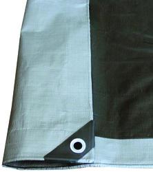 20' x 35' Silver/Black Heavy-Duty Tarp