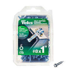 "Teks #8 x 1"" Hex Drill Point Self-Tapping Screws - 170 Count"