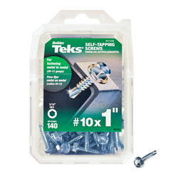 """Teks #10 x 1"""" Hex Drill Point Self-Tapping Screws - 140 Count"""