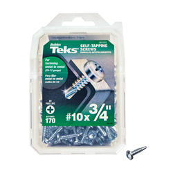 "Teks #10 x 3/4"" Pancake Drill Point Self-Tapping Screws - 170 Count"