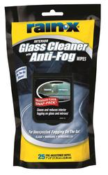 Rain-X® Glass Cleaner Anti-Fog Wipes - 25 Count