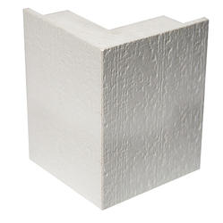 "Jain Americas 5/4"" x 4"" x 4"" x 20' White J-Pocket PVC Outside Corner"