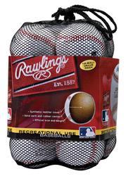 Rawlings® Recreational Use Baseballs - 12 Pack in Mesh Bag