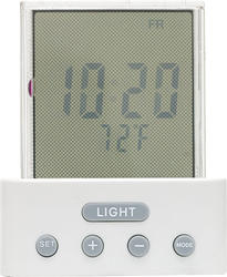 Time and Temperature LED Night Light with LCD Clock Display