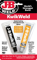 J-B Weld KwikWeld Quick-Setting Steel-Reinforced Epoxy - 2 oz
