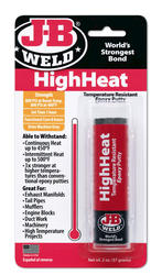 J-B Weld HighHeat Temperature-Resistant Epoxy Putty - 2 oz