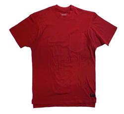 Men's 100% Cotton Short Sleeve T-Shirt - Red