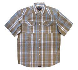 Men's 100% Cotton Short Sleeve Plaid - Design 3