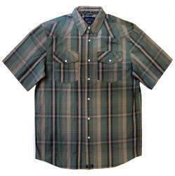 Men's 100% Cotton Short Sleeve Plaid - Design 2