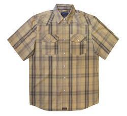 Men's 100% Cotton Short Sleeve Plaid - Design 4