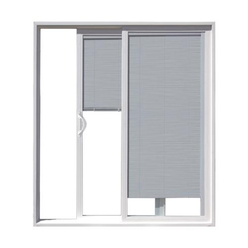 Jeld wen builders series white vinyl left hand sliding for Sliding glass doors jeld wen