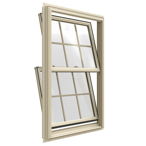 Double Insulated Windows : Jeld wen builders series low e argon vinyl double hung