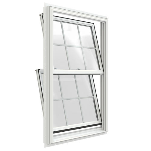 Jeld wen builders series low e 366 argon vinyl double hung for Vinyl insulated windows