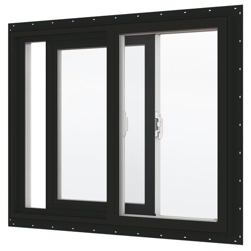 Bronze Vinyl Windows : Jeld wen white vinyl interior low e xo slider window