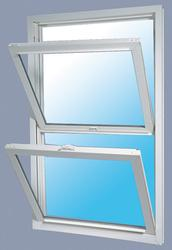 "JELD-WEN® Builders Series 28-1/4"" x 62"" White Vinyl Low-E 366 Glass Pocket Double-Hung Window"