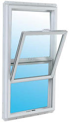 "JELD-WEN® Builders Series 36"" x 54"" White Vinyl Low-E 272 Glass Single-Hung Window"