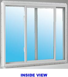 "JELD-WEN® Builders Series 36"" x 24"" White Vinyl Clear Insulated Glass Slider Window"