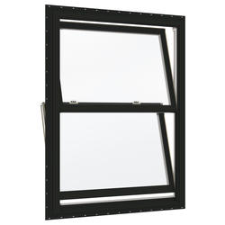 "JELD-WEN® Builders Series 38"" x 41-1/2"" Chestnut Bronze/White Vinyl Low-E 366 Glass Double-Hung Window"