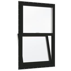 "JELD-WEN® Builders Series 24"" x 36"" Chestnut Bronze/White Vinyl Clear Insulated Glass Single-Hung Window"
