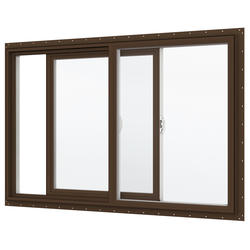 "JELD-WEN® Builders Series 48"" x 60"" Dark Chocolate/White Vinyl Low-E 272 Glass XO Slider Window"