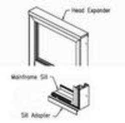 "JELD-WEN® Builders Series 36"" White Vinyl Pocket Head Expander and Sill Adaptor Kit"