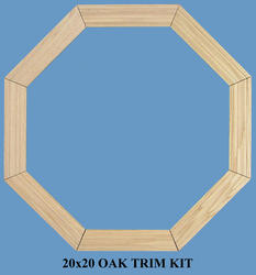 JJJ Specialty Interior Colonial Oak Casing Set for 20x20 Fixed Poly Octagon Window
