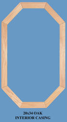 JJJ Specialty Interior Colonial Oak Casing Set for 20x34 Fixed Wood Octagon Window
