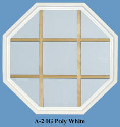JJJ Specialty Cabin Light 4 Season 20x20 Fixed White Poly Octagon Window