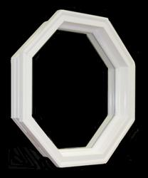 JJJ Specialty Split Rock 3' Vinyl Octagon Window