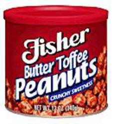Fisher Butter Toffee Peanuts - 12 oz