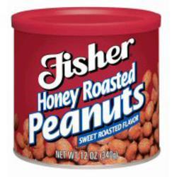 Fisher Honey Roasted Peanuts - 12 oz