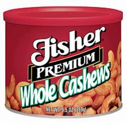 Fisher Premium Whole Cashews - 8.5 oz