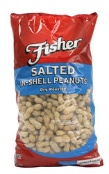 Fisher Salted In-Shell Dry Roasted Peanuts - 5 lb