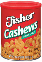 Fisher Cashew Halves & Pieces - 15 oz