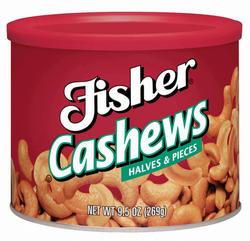Fisher Cashew Halves & Pieces - 8.5oz