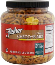 Fisher Cheesy Cheddar Snack Mix - 27 oz