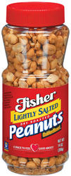 Fisher Lightly Salted Dry Roasted Peanuts - 14 oz
