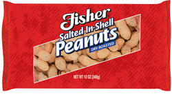 Fisher Salted In-Shell Dry Roasted Peanuts - 12 oz