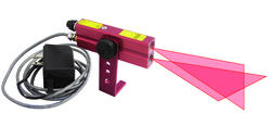 Red 110-Volt AC Industrial Alignment Cross-Line Laser Level