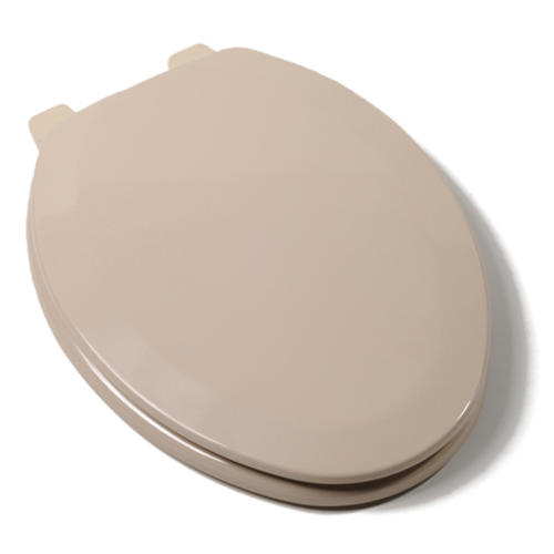 Comfort Seat Deluxe Elongated Molded Wood Toilet Seat At