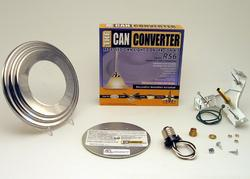 "The Can Converter R56 5""/6"" Polished Nickel Recessed Can Light Conversion Kit"