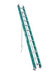 4924  24' Type II  Fiberglass D-Rung Extension Ladder