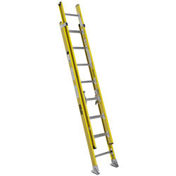 5316K  16' Type IAA  Fiberglass Round Rung Extension Ladder