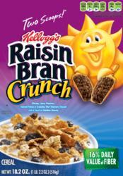 Kellogg's Raisin Bran Crunch Cereal - 18.2 oz.