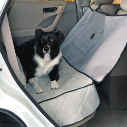 Deluxe Gray Car Seat Saver