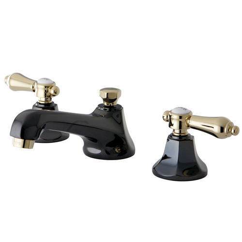 Black Widespread Bathroom Faucet : Kingston Brass Water Onyx Widespread Bathroom Faucet, Black Nickel ...