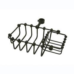 "Kingston Brass 7"" Riser Mount Soap Basket"