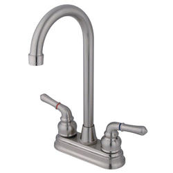 Kingston Brass Magellan 2-Handle High-Arch Bar Faucet