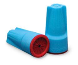 Aqua/Red Waterproof Connector (20/Bag)